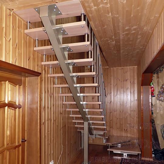 Лестницы на второй этаж на даче своими руками схема 74