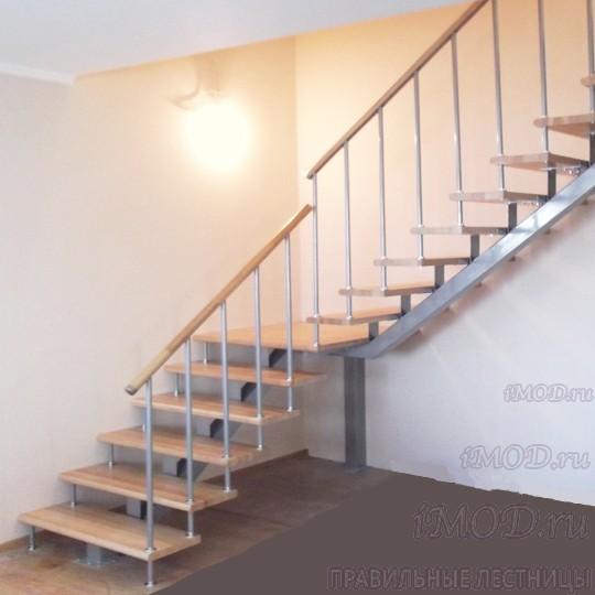 Модульная лестница: фото сборных на второй этаж