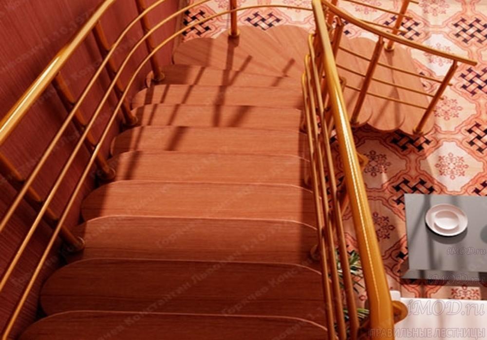 """Фото: лестница на второй этаж Г-образная ,бизнес-класса """"Модерн""""-9."""