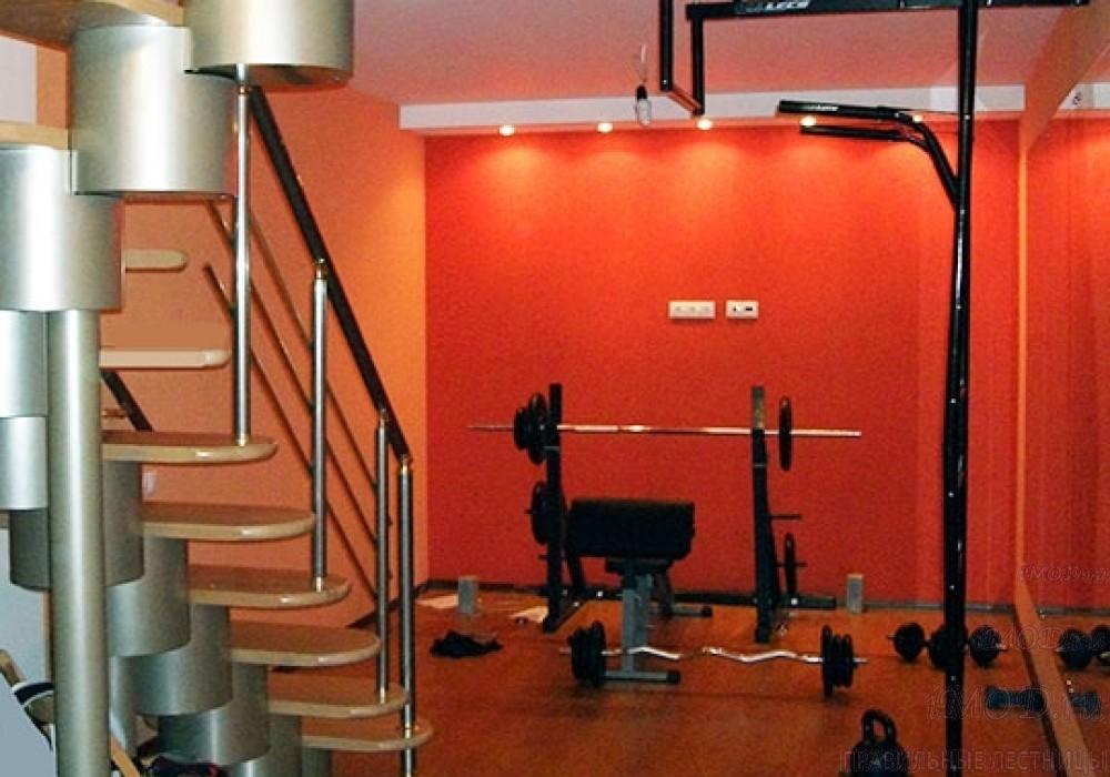 """Фото: лестница на второй этаж Г-образная ,бизнес-класса """"Модерн""""-3."""