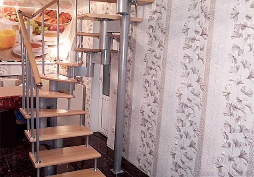 """Фото 3: лестницы на второй этаж П-образные """"Престиж"""" разворотные, фото3."""