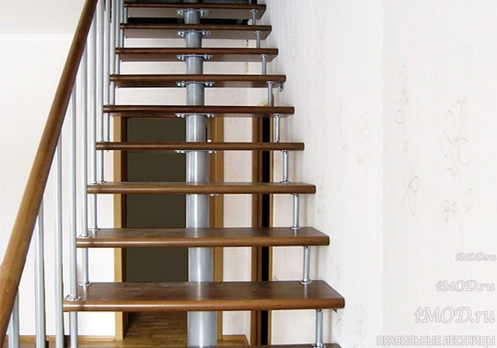 """Фото 8: прямая лестница на второй этаж """"Престиж"""" одномаршевая в загородный дом, коттедж, таунхаус, для дачи-фото8."""