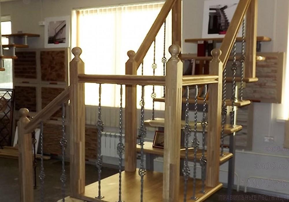 """Фото 20: модульная лестница эконом-класса на 2 этаж Г-образная """"Элегант""""- фото 20 в фотогалерее."""