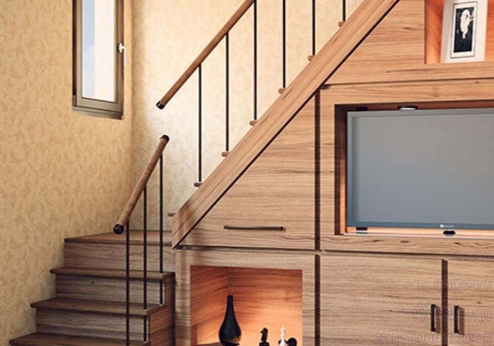 """Фото 2: модульная лестница эконом-класса на 2 этаж Г-образная """"Элегант""""- фото 2 в фотогалерее."""