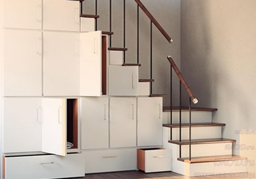 """Фото 4: модульная лестница эконом-класса на 2 этаж Г-образная """"Элегант""""- фото 4 в фотогалерее."""