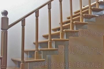 """Фото: модульная прямая лестница на 2-й этаж эконом-класса""""Элегант""""."""