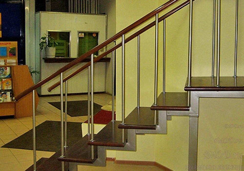"""Фото 29: модульная прямая лестница на 2-й этаж эконом-класса""""Элегант"""" - фото 29 фотогалереи """"Лестницы""""."""