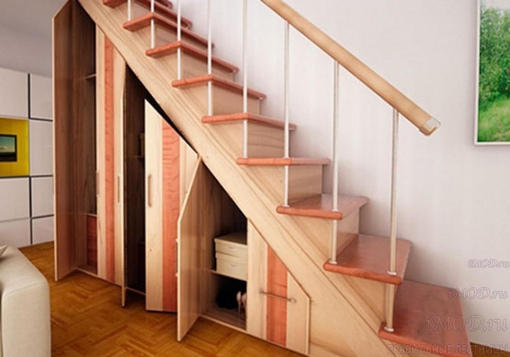 """Фото 1: модульная прямая лестница на 2-й этаж эконом-класса""""Элегант"""" - фото 1 фотогалереи """"Лестницы""""."""