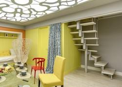 """Модульная лестница на второй этаж с поворотом из передачи НТВ Дачный ответ """"Ложа, партер, занавес"""""""