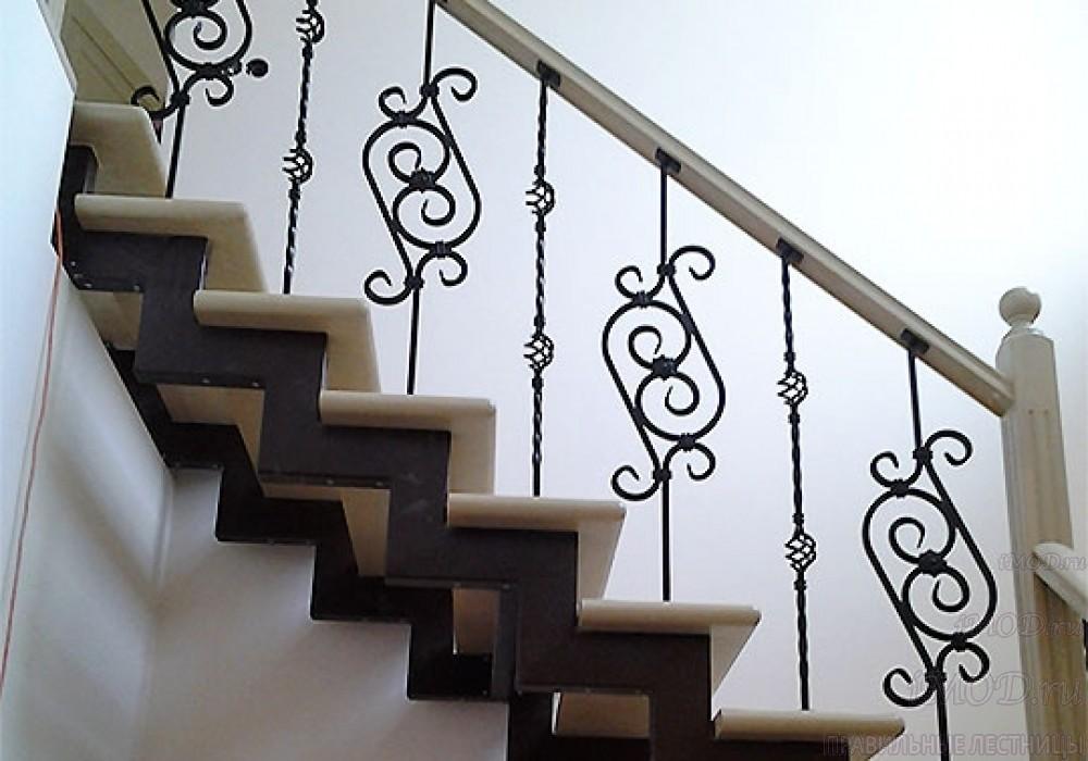 """Фото 5: лестница на второй этаж (на заказ) """"СуперЭлегант"""" Г-образная с поворотом. Изготовление лестницы на заказ под ключ, фото 5."""