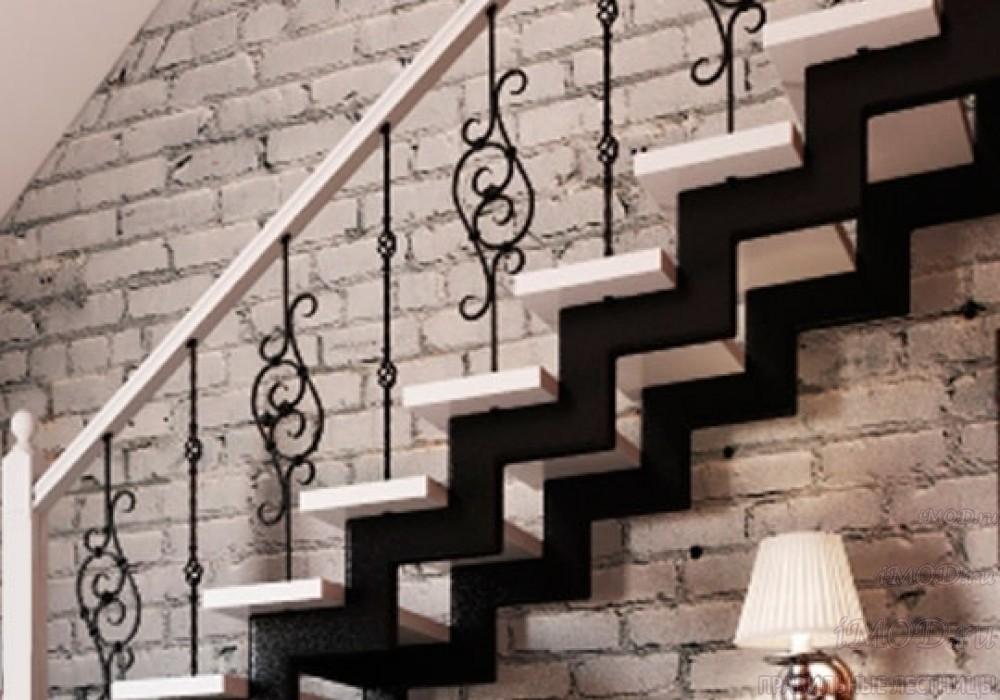 """Фото 5 прямая лестница на 2 этаж в коттедж, частный дом, таунхаус """"СуперЭлегант"""". Изготовление лестницы на заказ с монтажом под ключ. Фотография 5."""