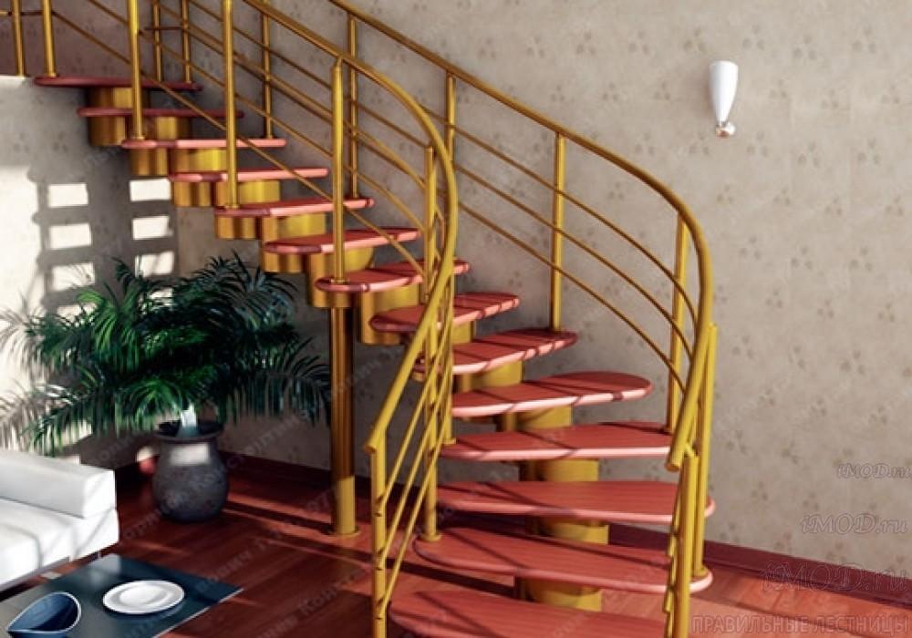 """Фото: лестница на второй этаж Г-образная ,бизнес-класса """"Модерн""""-10."""