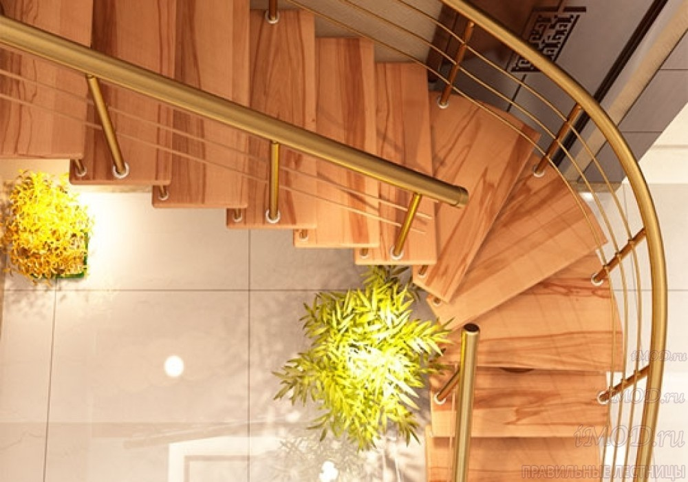 """Фото: лестница на второй этаж Г-образная ,бизнес-класса """"Модерн""""-12"""
