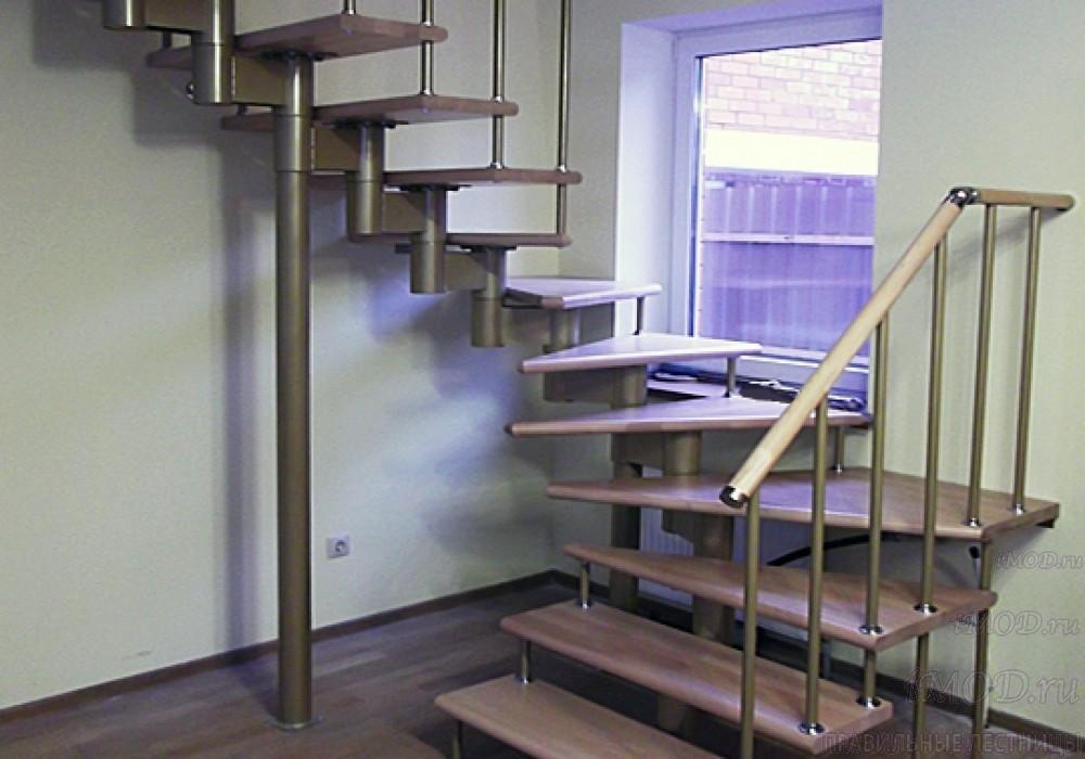 """Фото 10: лестницы на второй этаж П-образные """"Престиж"""" разворотные, фото10."""