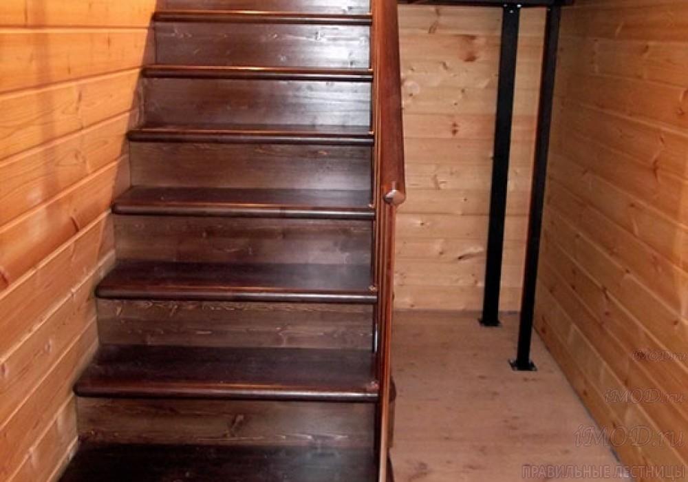 """Фото 6: модульная лестница на 2-й этаж эконом-класса П-образная """"Элегант"""" - фото 6 фотогалереи."""