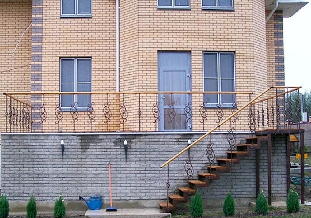 """Фото 9: модульная прямая лестница на 2-й этаж эконом-класса""""Элегант"""" - фото 9 фотогалереи """"Лестницы""""."""