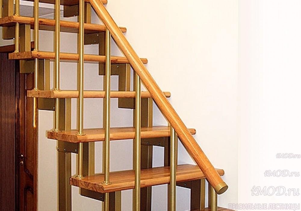 """Фото 11: модульная прямая лестница на 2-й этаж эконом-класса""""Элегант"""" - фото 11 фотогалереи """"Лестницы""""."""