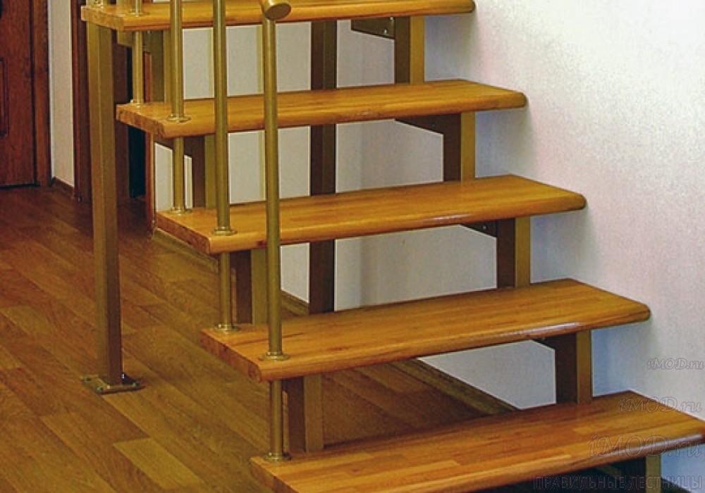 """Фото 20: модульная прямая лестница на 2-й этаж эконом-класса""""Элегант"""" - фото 20 фотогалереи """"Лестницы""""."""
