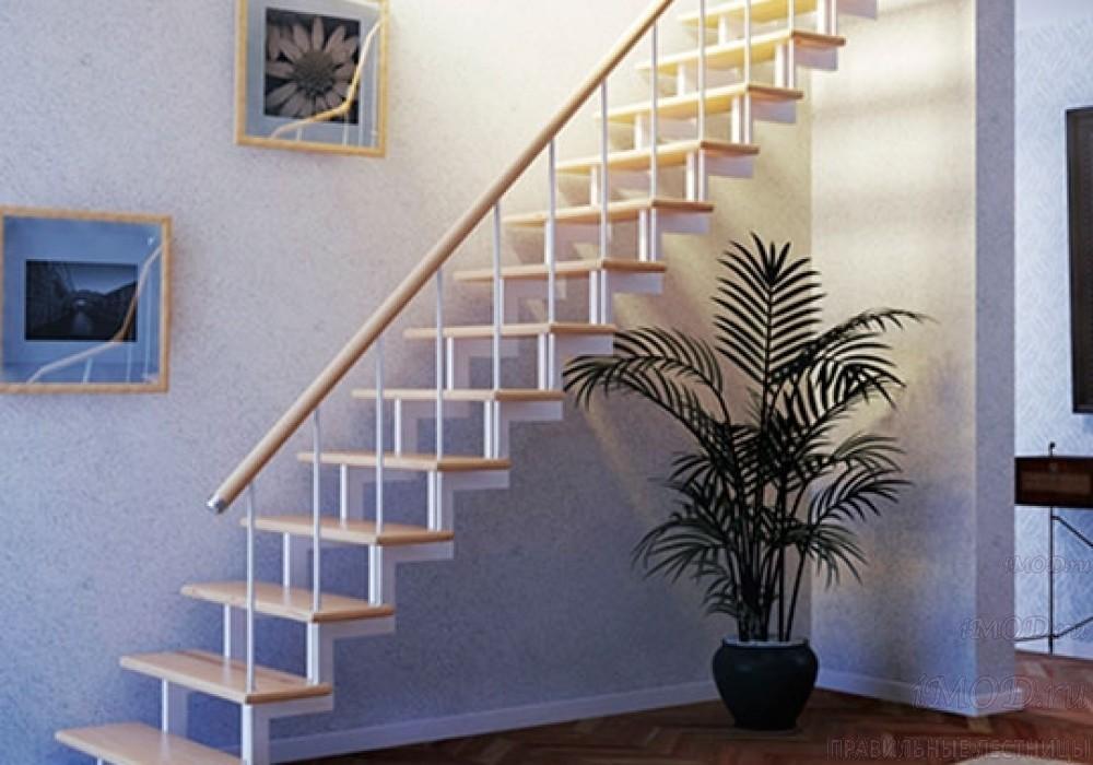 """Фото 4: модульная прямая лестница на 2-й этаж эконом-класса""""Элегант"""" - фото 4 фотогалереи """"Лестницы""""."""