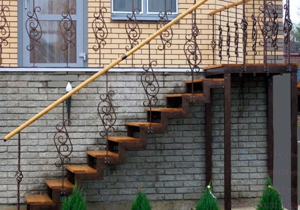 """Фото 21: модульная прямая лестница на 2-й этаж эконом-класса""""Элегант"""" - фото 21 фотогалереи """"Лестницы""""."""