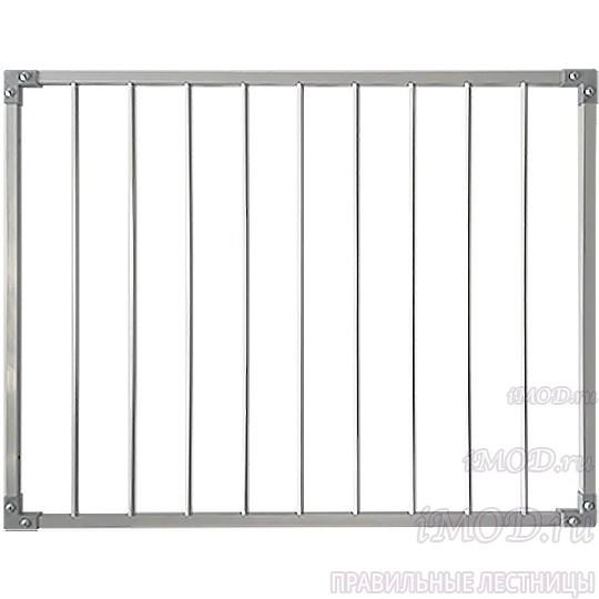 Защитный барьер металлический (стальной) для лестницы универсальный (ворота безопасности входа на лестницу).