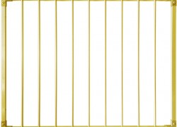Защитный барьер металлический (алюминий) для лестницы универсальный (ворота безопасности входа на лестницу)