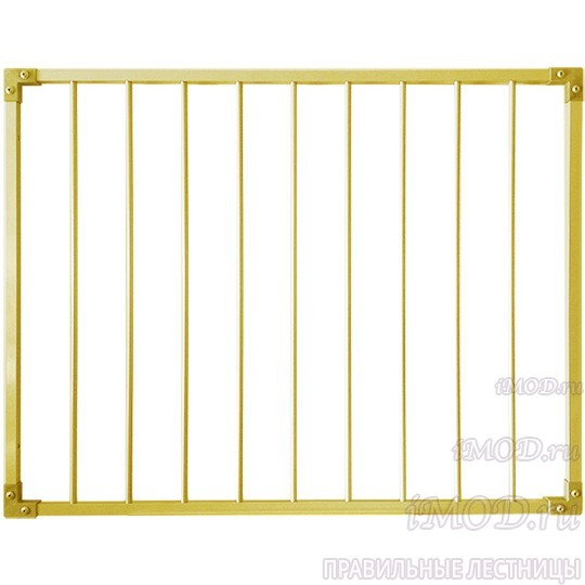 Защитный барьер металлический (алюминий) для лестницы универсальный (ворота безопасности входа на лестницу).