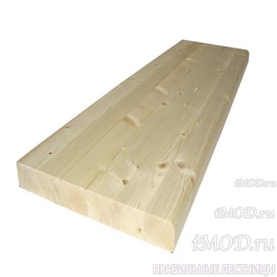 Деревянные ступени из сосны (евроступень 300х900х40мм).