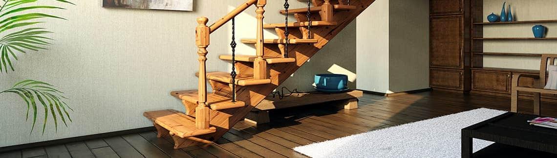 Меняем старую лестницу на новую!