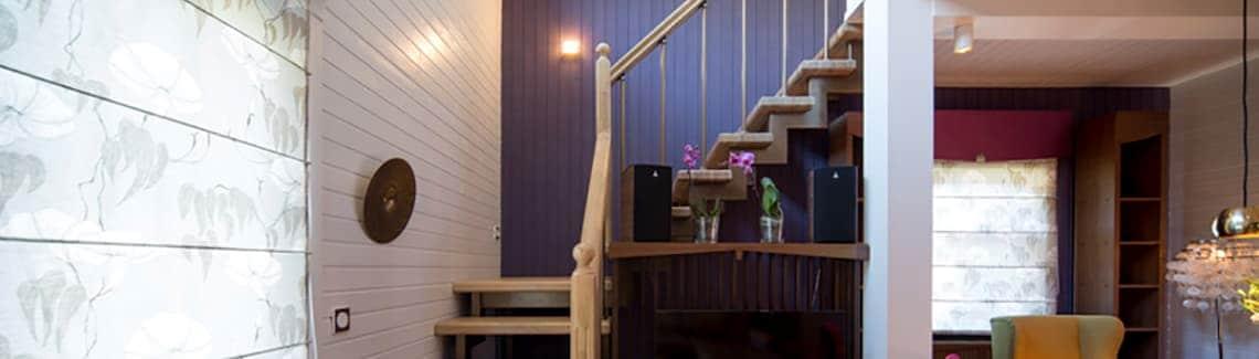 Лестница на 2 этаж в частный дом, коттедж межэтажная
